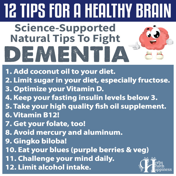 12 Tips For A Healthy Brain - Science-Supported Natural Tips To Fight Dementia