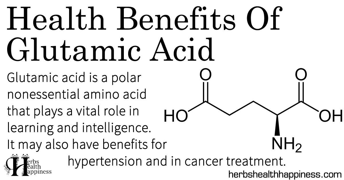 Health Benefits Of Glutamic Acid