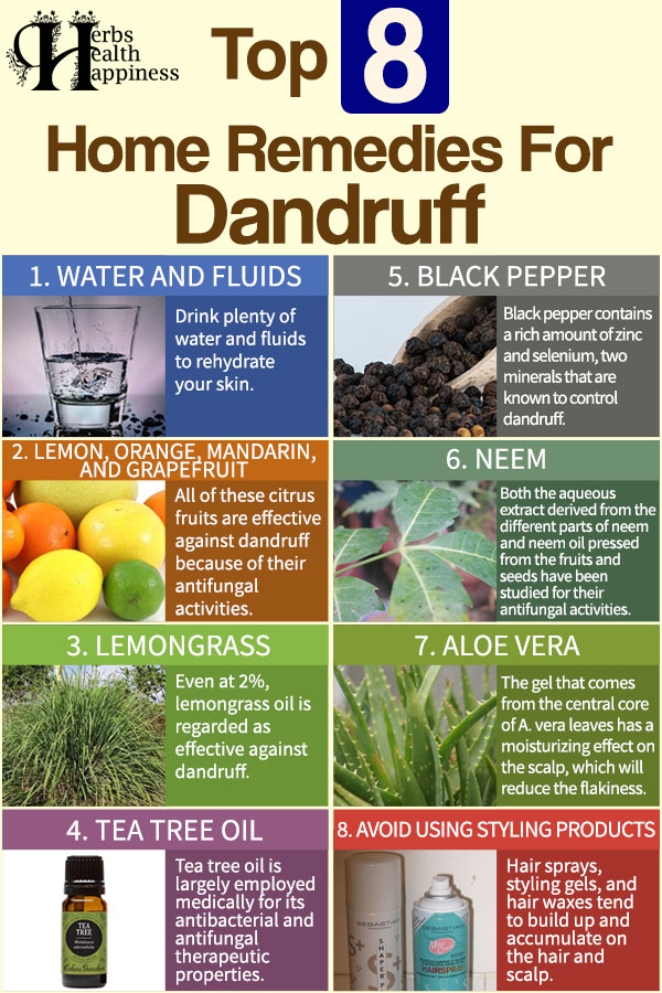 Top 8 Home Remedies for Dandruff