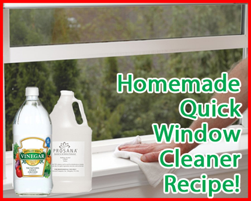 How To Make Homemade Natural Window Cleaner Formula