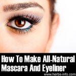 How To Make All-Natural Mascara And Eyeliner