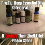 Keep Essential Oils Refrigerated