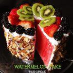 Amazing Paleo Watermelon Cake
