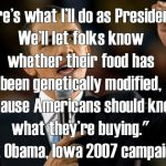 President Obama: Keep Your Campaign Promise to Label GMO Foods
